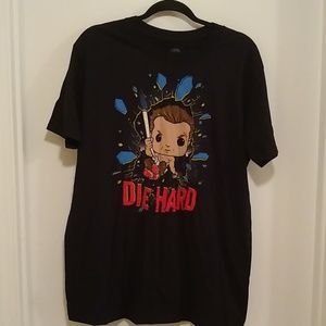 Funko Pop John McClain Die Hard black T-shirt